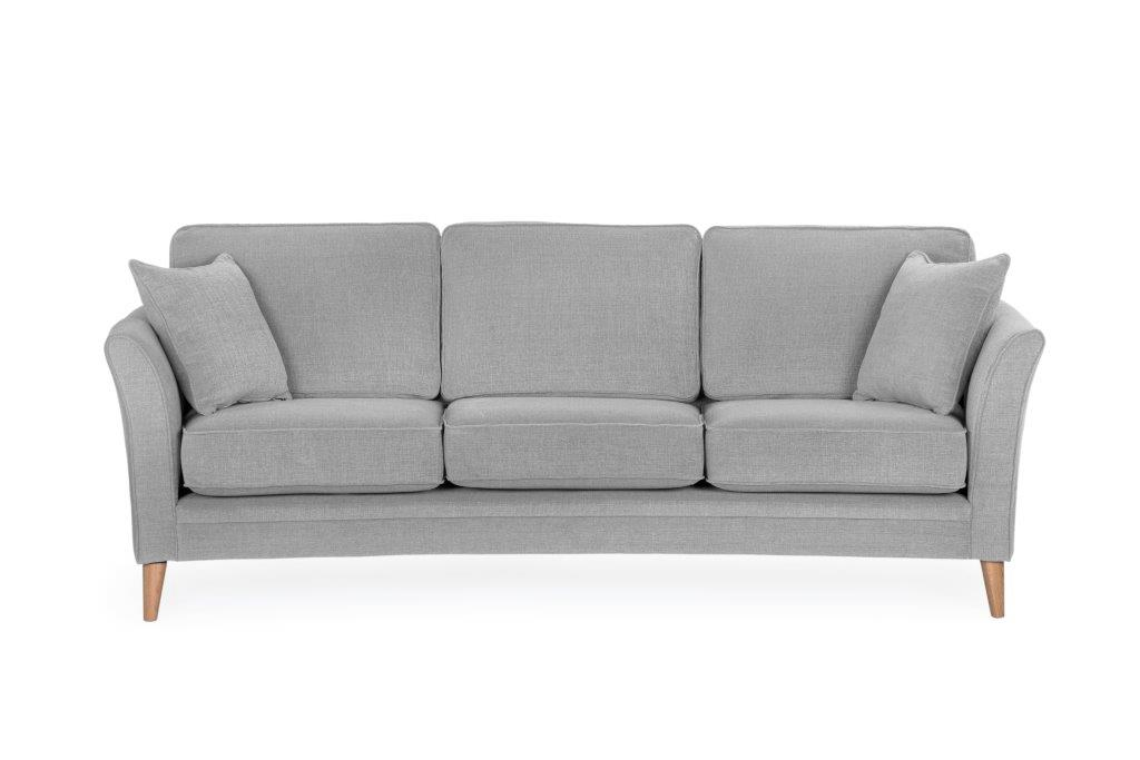 EDEN ROUND 3seater (Luiza 22 Silver) softnord soft nord scandinavian style furniture modern interior design sofa bed chair pouf upholstery