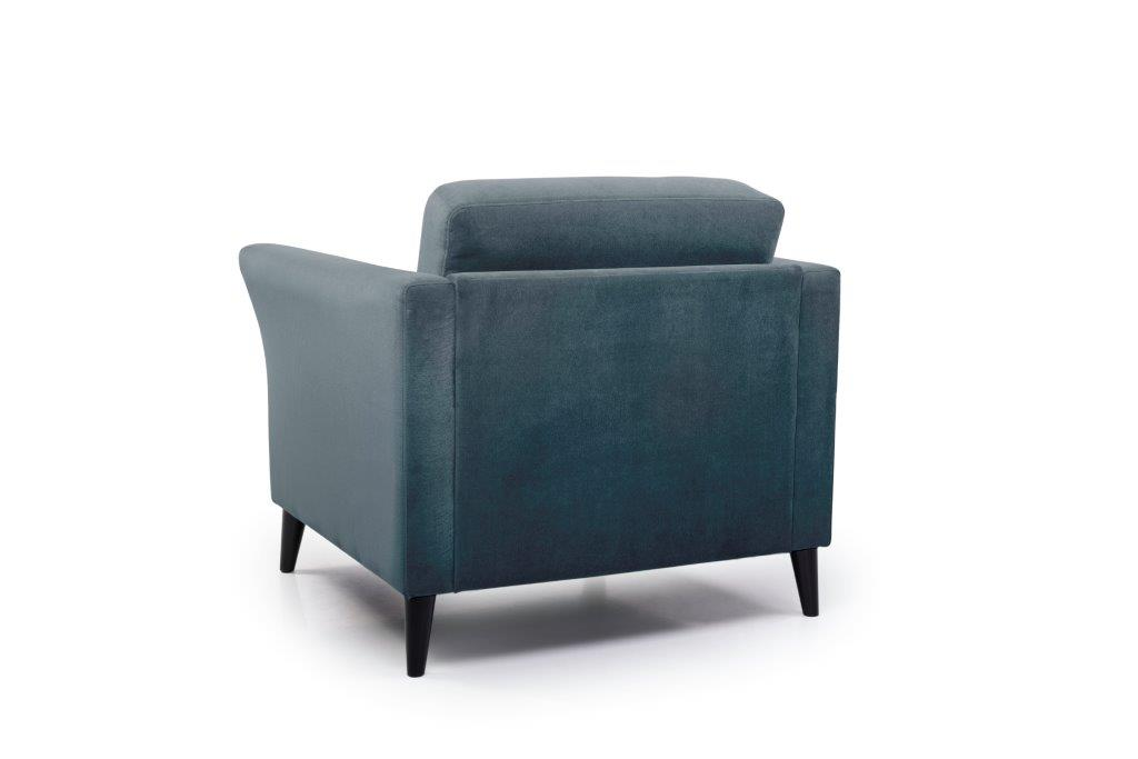 EDEN round 1-seater (TRENTO 16 blue) back softnord soft nord scandinavian style furniture modern interior design sofa bed chair pouf upholstery