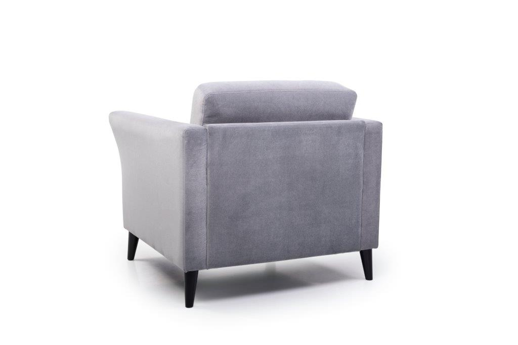 EDEN round 1-seater (TRENTO 3 grey) back softnord soft nord scandinavian style furniture modern interior design sofa bed chair pouf upholstery
