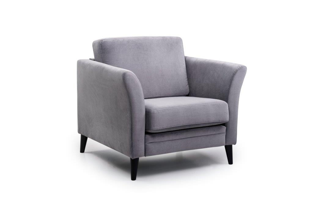 EDEN round 1-seater (TRENTO 3 grey) side softnord soft nord scandinavian style furniture modern interior design sofa bed chair pouf upholstery