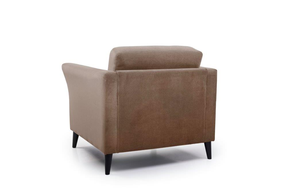EDEN round 1-seater (TRENTO cappuccino) back softnord soft nord scandinavian style furniture modern interior design sofa bed chair pouf upholstery