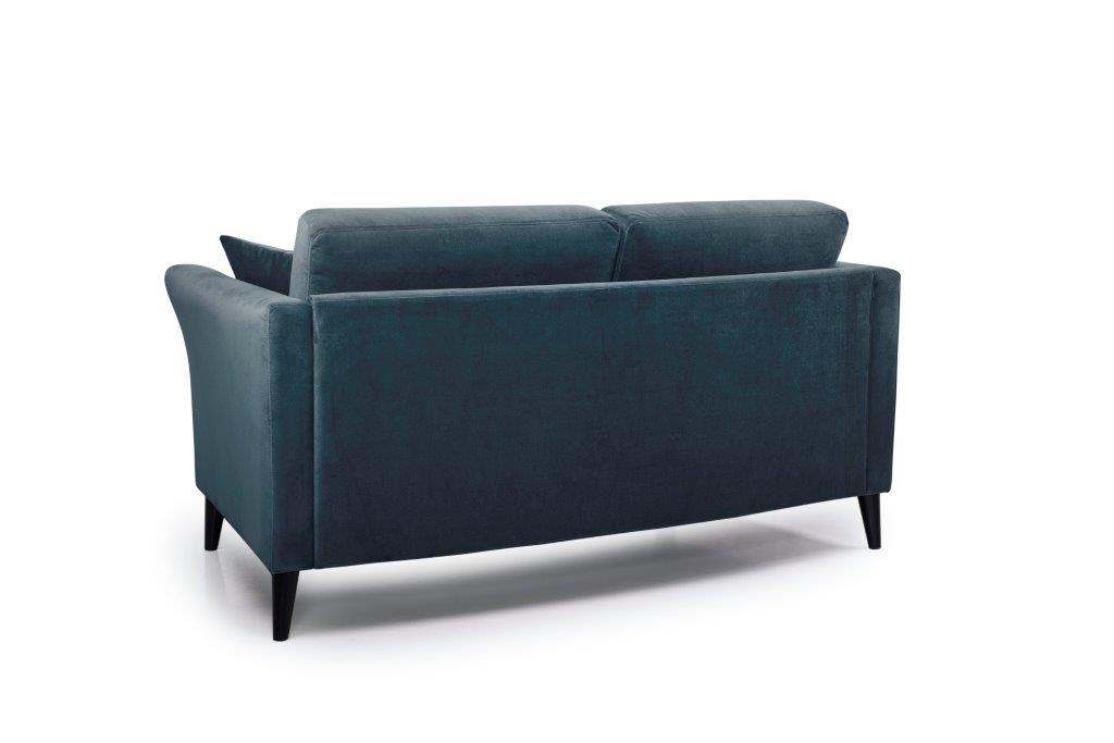 EDEN round 2-seater (TRENTO 16 blue) back softnord soft nord scandinavian style furniture modern interior design sofa bed chair pouf upholstery