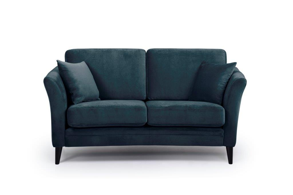 EDEN round 2-seater (TRENTO 16 blue) front softnord soft nord scandinavian style furniture modern interior design sofa bed chair pouf upholstery