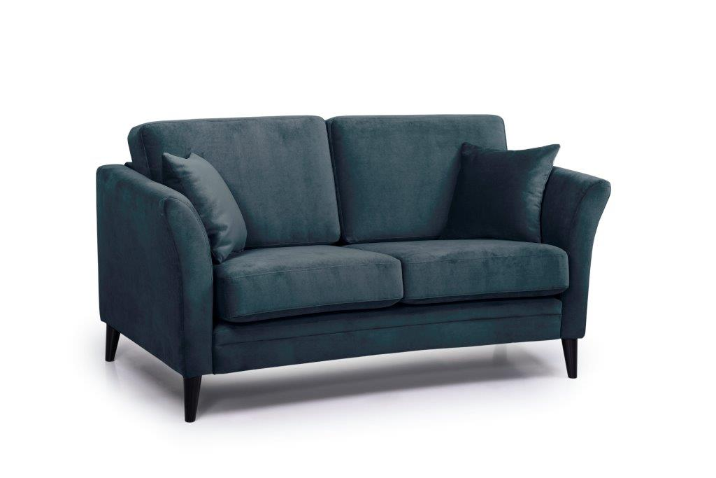 EDEN round 2-seater (TRENTO 16 blue) side softnord soft nord scandinavian style furniture modern interior design sofa bed chair pouf upholstery