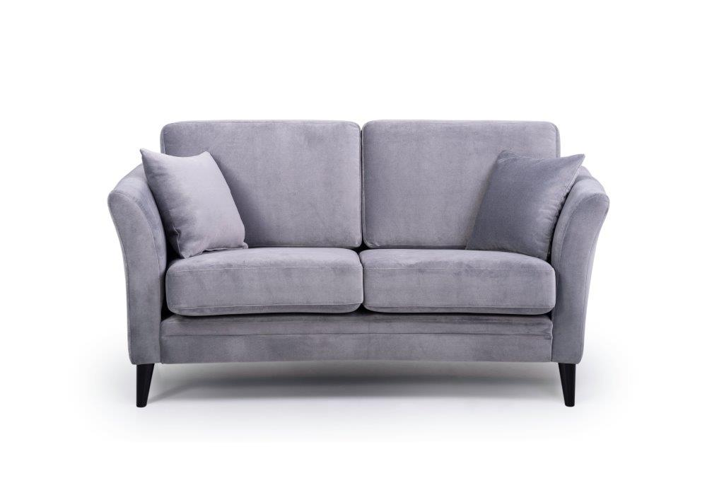 EDEN round 2-seater (TRENTO 3 grey) front softnord soft nord scandinavian style furniture modern interior design sofa bed chair pouf upholstery