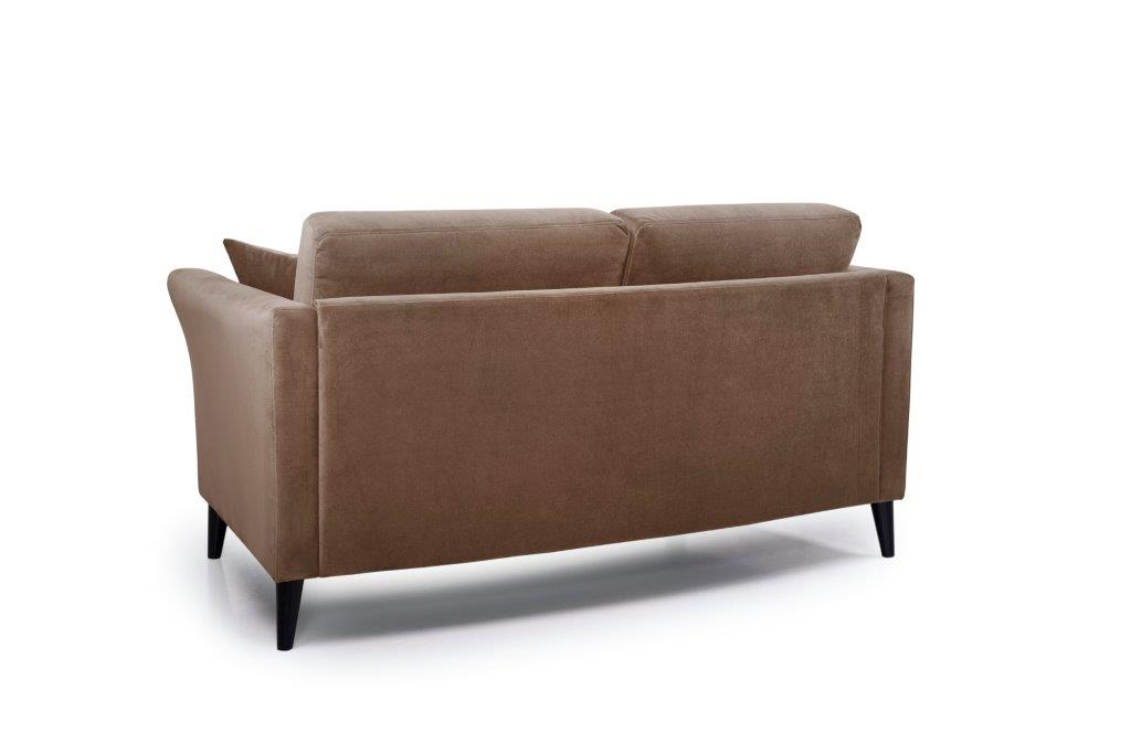 EDEN round 2-seater (TRENTO cappuccino) back softnord soft nord scandinavian style furniture modern interior design sofa bed chair pouf upholstery