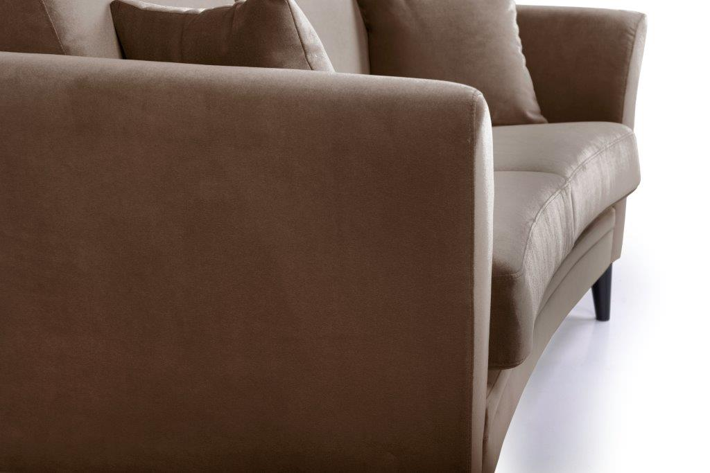 EDEN round 2-seater (TRENTO cappuccino) detail softnord soft nord scandinavian style furniture modern interior design sofa bed chair pouf upholstery