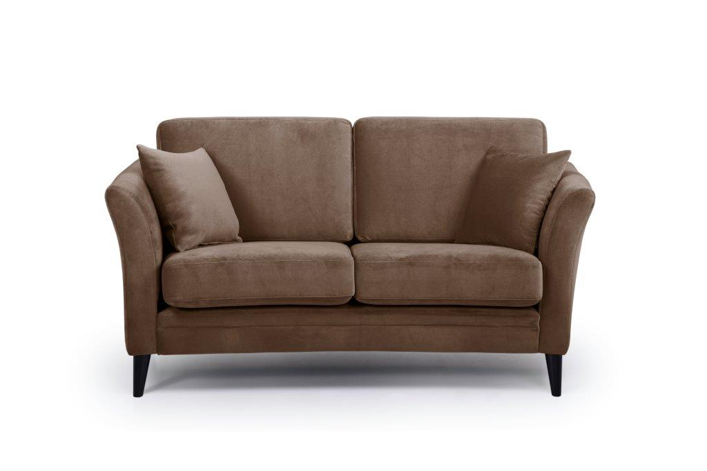 EDEN round 2-seater (TRENTO cappuccino) front softnord soft nord scandinavian style furniture modern interior design sofa bed chair pouf upholstery