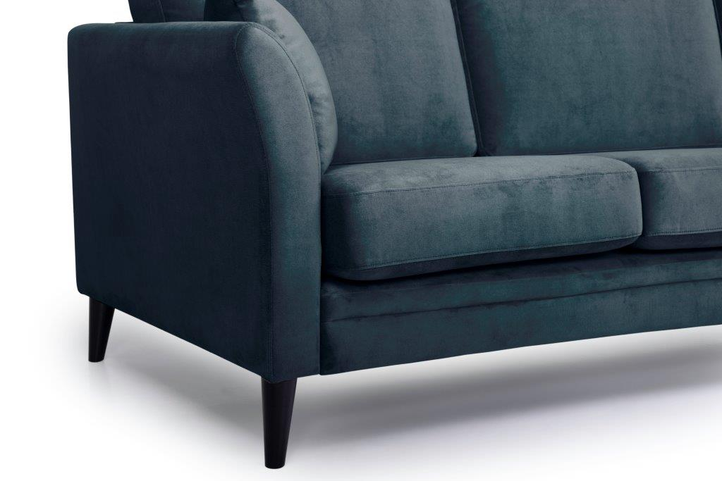 EDEN round 3-seater (TRENTO 16 blue) arm+leg softnord soft nord scandinavian style furniture modern interior design sofa bed chair pouf upholstery