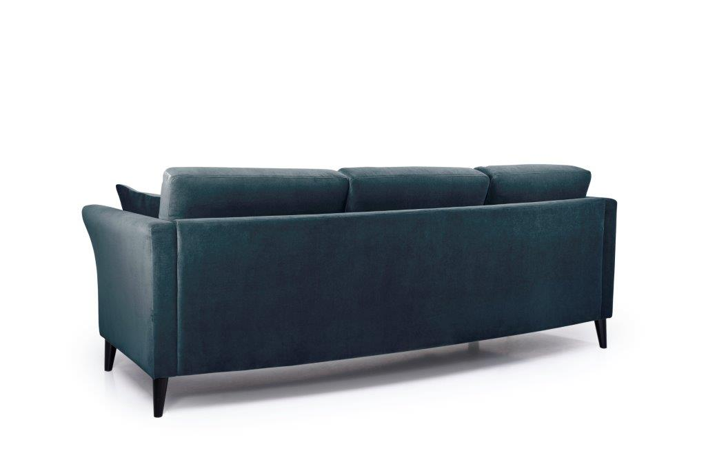EDEN round 3-seater (TRENTO 16 blue) back softnord soft nord scandinavian style furniture modern interior design sofa bed chair pouf upholstery