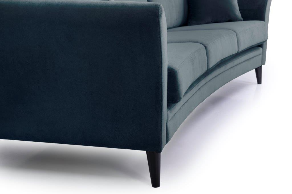 EDEN round 3-seater (TRENTO 16 blue) detail softnord soft nord scandinavian style furniture modern interior design sofa bed chair pouf upholstery
