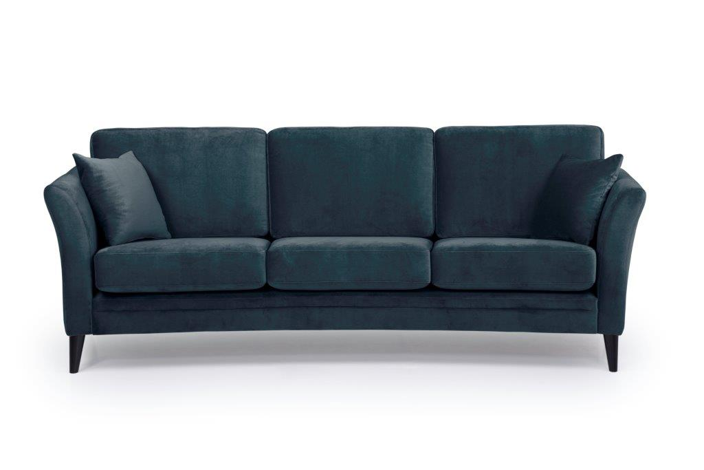 EDEN round 3-seater (TRENTO 16 blue) front softnord soft nord scandinavian style furniture modern interior design sofa bed chair pouf upholstery