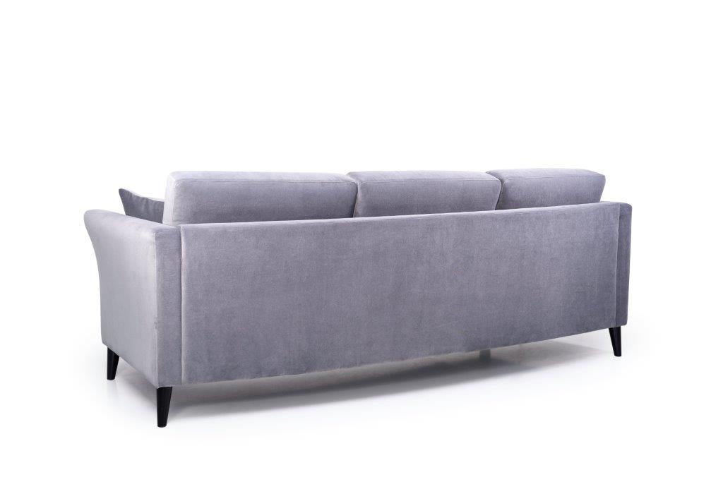 EDEN round 3-seater (TRENTO 3 grey) back softnord soft nord scandinavian style furniture modern interior design sofa bed chair pouf upholstery
