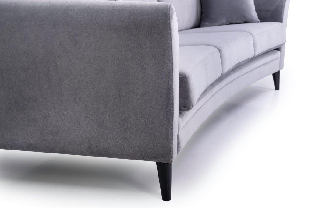 EDEN round 3-seater (TRENTO 3 grey) detail softnord soft nord scandinavian style furniture modern interior design sofa bed chair pouf upholstery