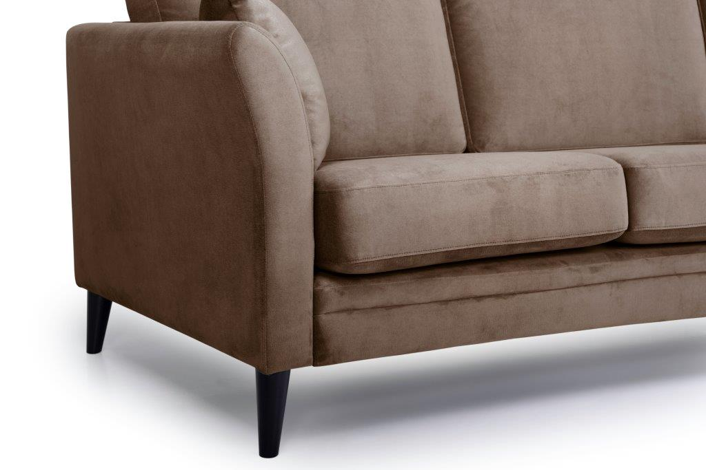 EDEN round 3-seater (TRENTO cappuccino) arm+leg softnord soft nord scandinavian style furniture modern interior design sofa bed chair pouf upholstery