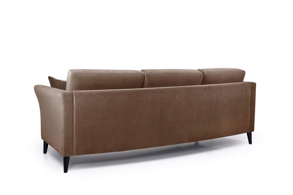 EDEN round 3-seater (TRENTO cappuccino) back softnord soft nord scandinavian style furniture modern interior design sofa bed chair pouf upholstery
