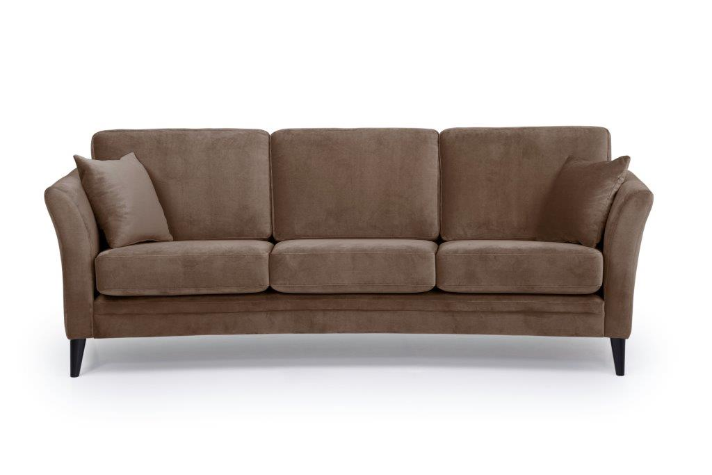 EDEN round 3-seater (TRENTO cappuccino) front softnord soft nord scandinavian style furniture modern interior design sofa bed chair pouf upholstery