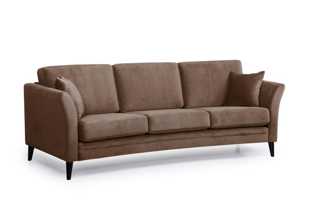 EDEN round 3-seater (TRENTO cappuccino) side softnord soft nord scandinavian style furniture modern interior design sofa bed chair pouf upholstery
