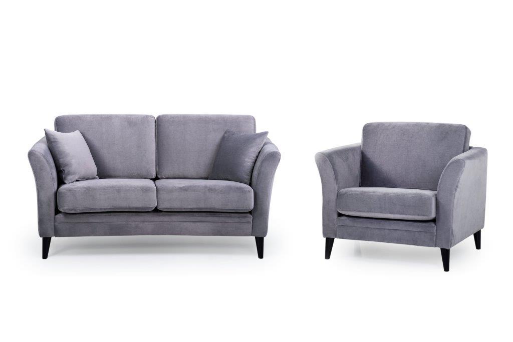 EDEN round 3+1 (TRENTO 3 grey) softnord soft nord scandinavian style furniture modern interior design sofa bed chair pouf upholstery