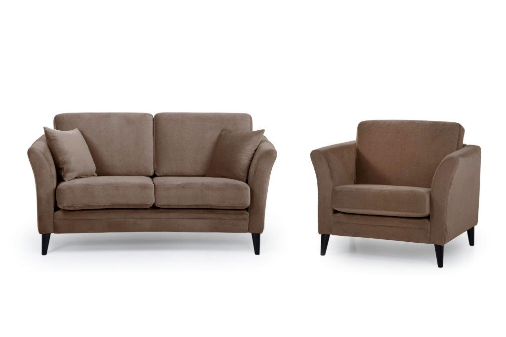 EDEN round 3+1 (TRENTO cappuccino) softnord soft nord scandinavian style furniture modern interior design sofa bed chair pouf upholstery