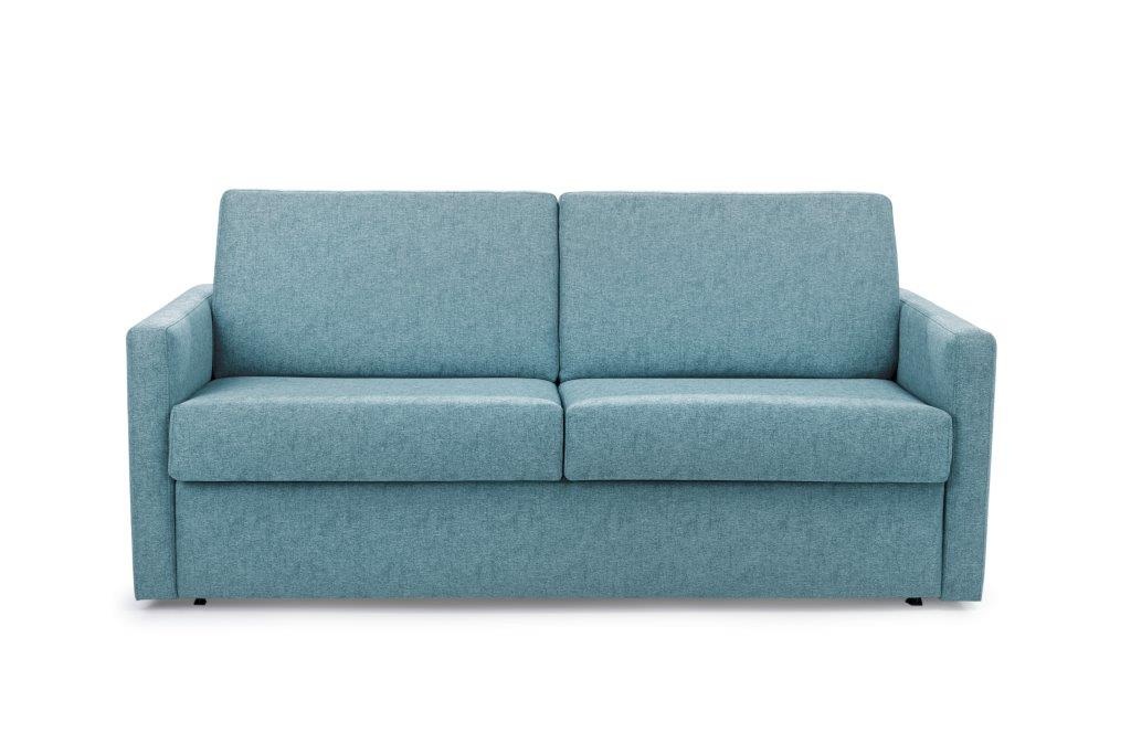ELBEKO 2 seater arm C (GUSTO 29 sapphire) front softnord soft nord scandinavian style furniture modern interior design sofa bed chair pouf upholstery
