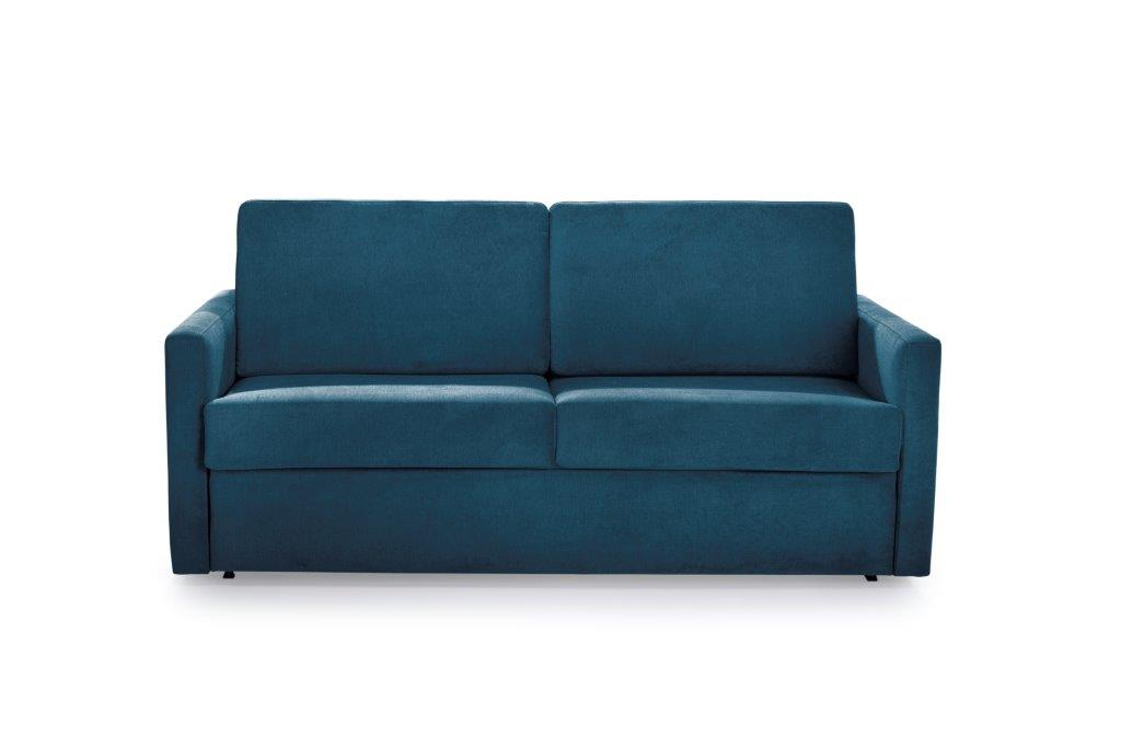 ELBEKO 2 seater arm C (ORINOCO 16 blue) front softnord soft nord scandinavian style furniture modern interior design sofa bed chair pouf upholstery