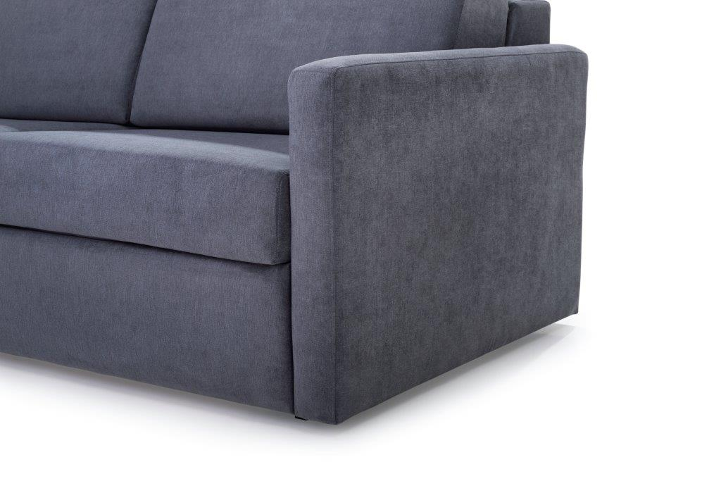 ELBEKO 2 seater arm C (ORINOCO 7 antrazite) arm softnord soft nord scandinavian style furniture modern interior design sofa bed chair pouf upholstery