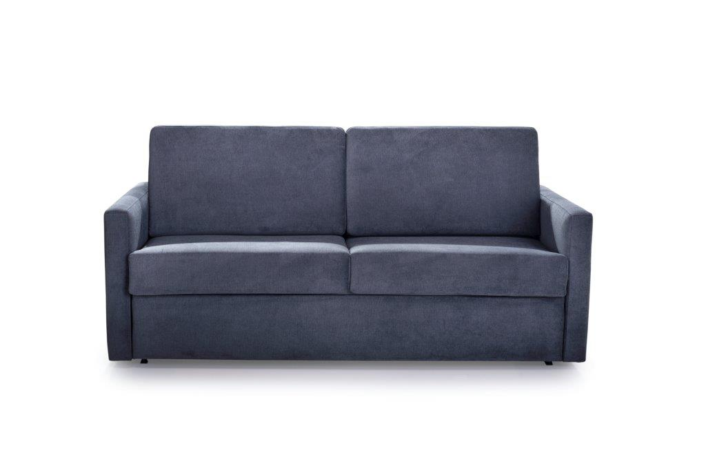 ELBEKO 2 seater arm C (ORINOCO 7 antrazite) front softnord soft nord scandinavian style furniture modern interior design sofa bed chair pouf upholstery