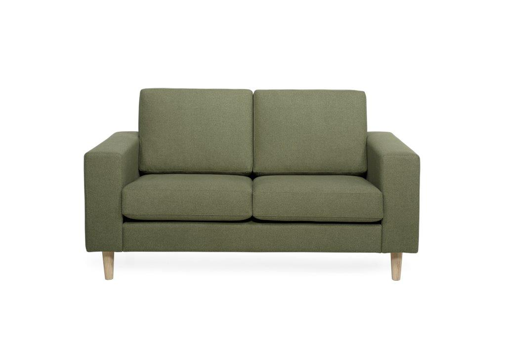 FOCUS 2 seater (VERONA 17green) (5) softnord soft nord scandinavian style furniture modern interior design sofa bed chair pouf upholstery