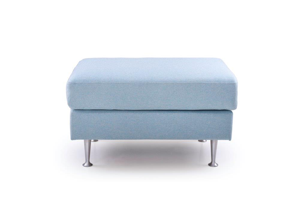 FOCUS big pouf (SALSA 16_1 light blue) front softnord soft nord scandinavian style furniture modern interior design sofa bed chair pouf upholstery
