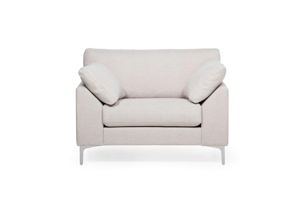 GARDA 1 seater (INARI 4 sand) softnord soft nord scandinavian style furniture modern interior design sofa bed chair pouf upholstery