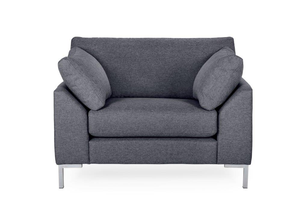 GARDA 1-seater (Malmo 3 grey) softnord soft nord scandinavian style furniture modern interior design sofa bed chair pouf upholsterysoftnord soft nord scandinavian style furniture