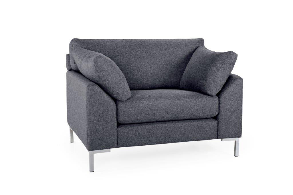 GARDA 1-seater (Malmo 3 grey_) softnord soft nord scandinavian style furniture modern interior design sofa bed chair pouf upholstery