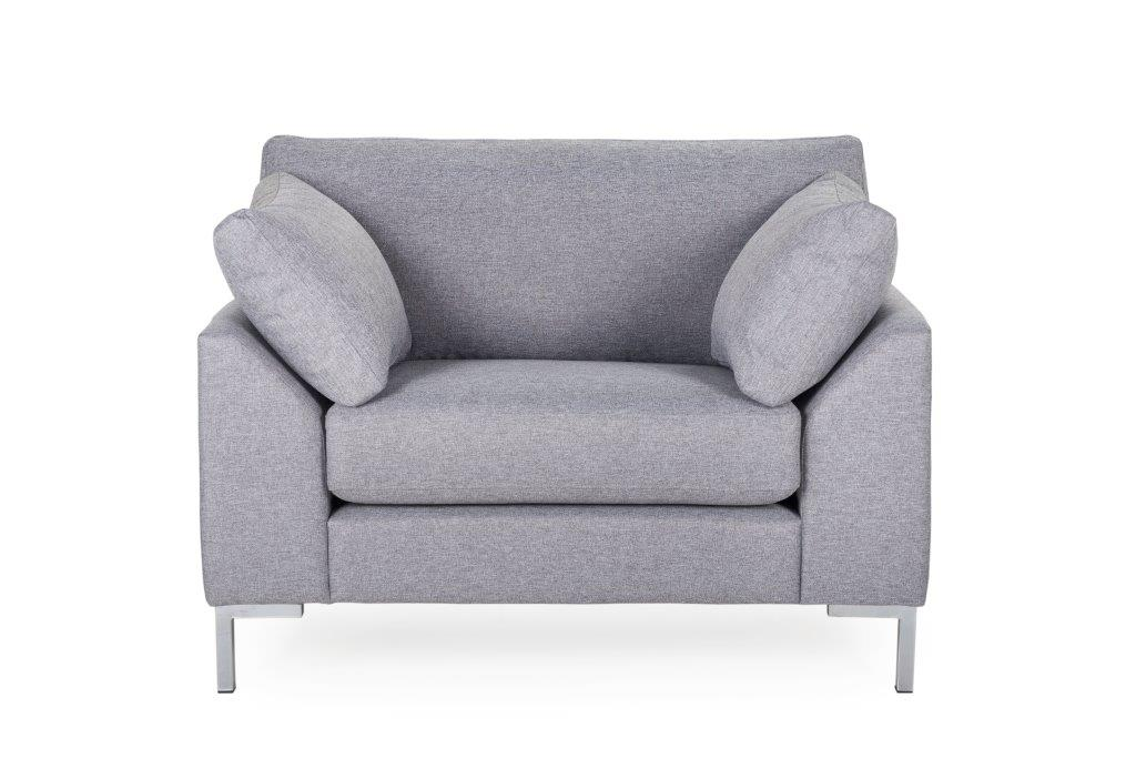 GARDA 1-seater (Malmo 3,1 light grey) softnord soft nord scandinavian style furniture modern interior design sofa bed chair pouf upholstery