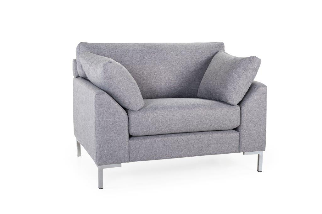 GARDA 1-seater (Malmo 3,1 light grey)_ softnord soft nord scandinavian style furniture modern interior design sofa bed chair pouf upholstery