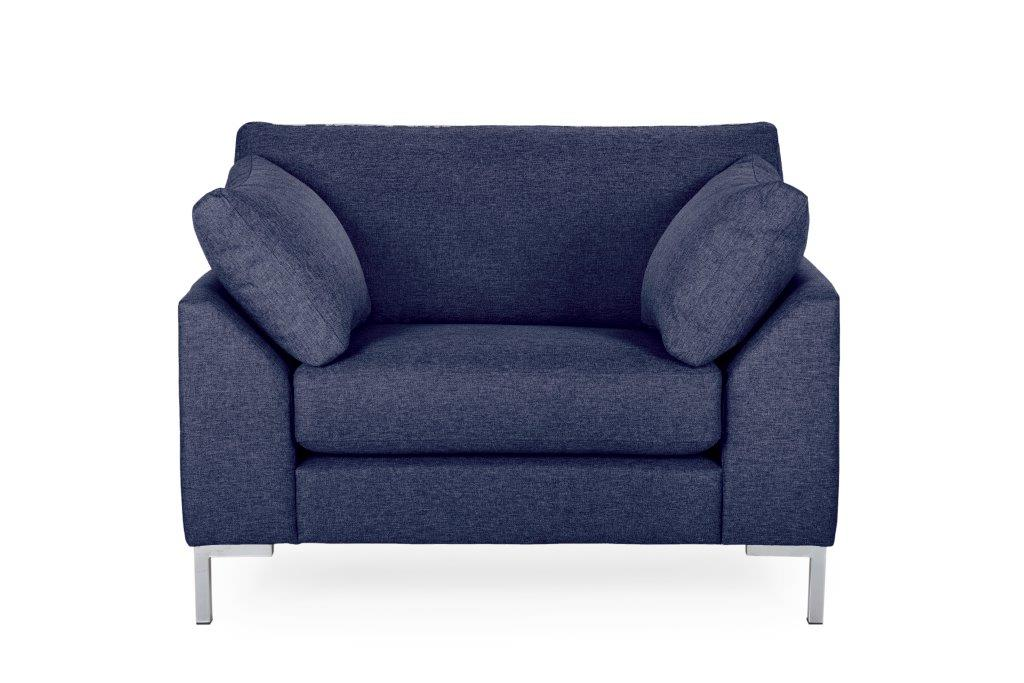 GARDA 1-seater (Malmo dark blue) softnord soft nord scandinavian style furniture modern interior design sofa bed chair pouf upholstery