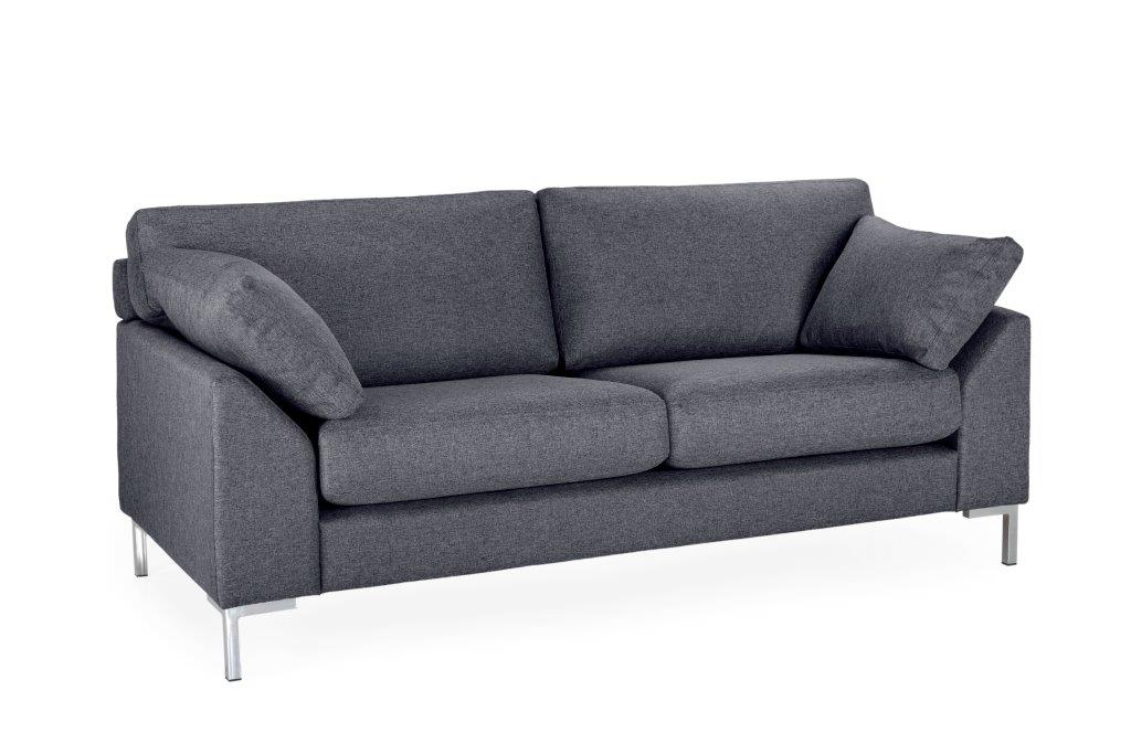 GARDA 2-seater (Malmo 3 grey)-softnord soft nord scandinavian style furniture modern interior design sofa bed chair pouf upholstery