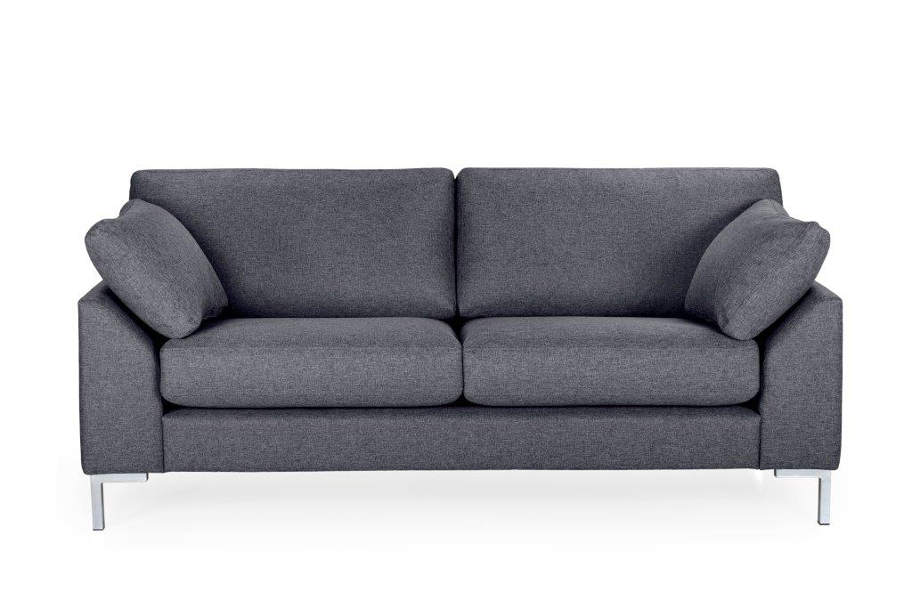 GARDA 2-seater (Malmo 3 grey) softnord soft nord scandinavian style furniture modern interior design sofa bed chair pouf upholstery