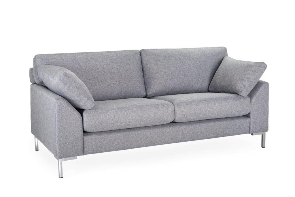 GARDA 2-seater (Malmo 3,1 light grey)-softnord soft nord scandinavian style furniture modern interior design sofa bed chair pouf upholstery