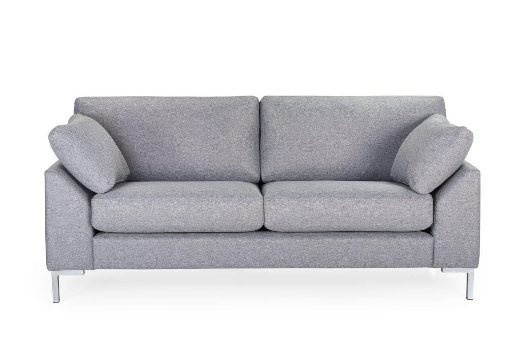 GARDA 2-seater (Malmo 3,1 light grey) softnord soft nord scandinavian style furniture modern interior design sofa bed chair pouf upholstery