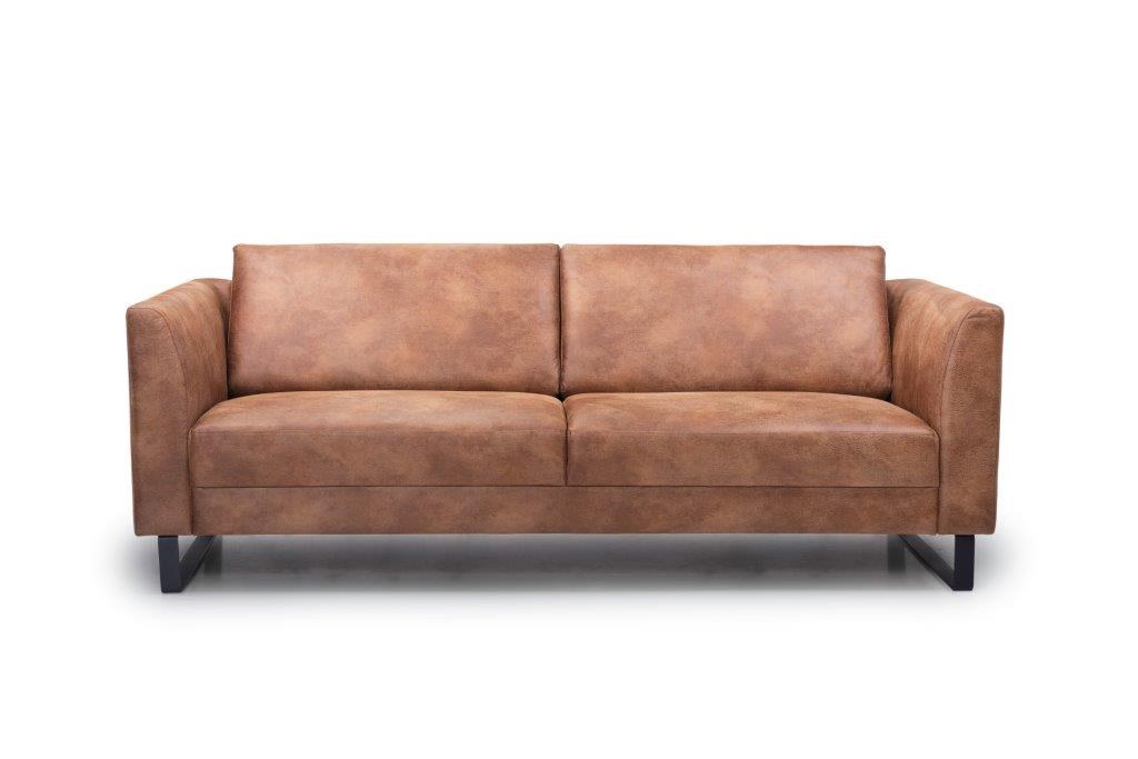 GENEVE 3 seater (TEXAS 16 caramel) front softnord soft nord scandinavian style furniture modern interior design sofa bed chair pouf upholstery