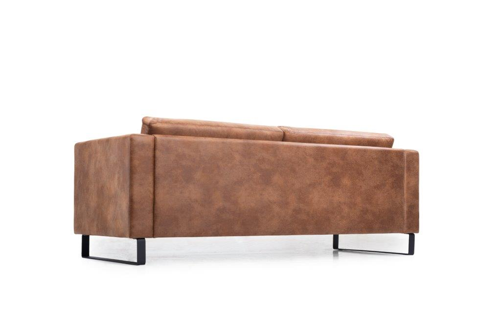 GENEVE 3 seater (TEXAS 16 caramel) low back softnord soft nord scandinavian style furniture modern interior design sofa bed chair pouf upholstery