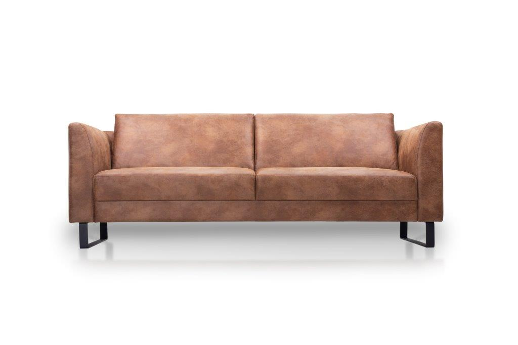 GENEVE 3 seater (TEXAS 16 caramel) low front softnord soft nord scandinavian style furniture modern interior design sofa bed chair pouf upholstery