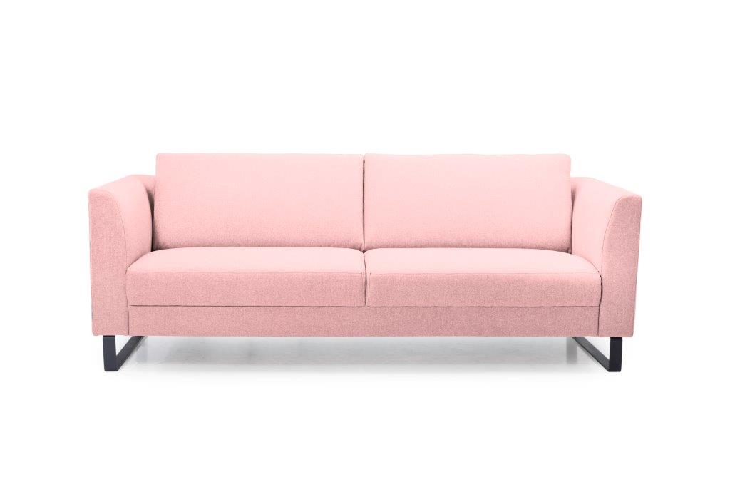 GENEVE 3 seater (VERONA 11 pink) front softnord soft nord scandinavian style furniture modern interior design sofa bed chair pouf upholstery