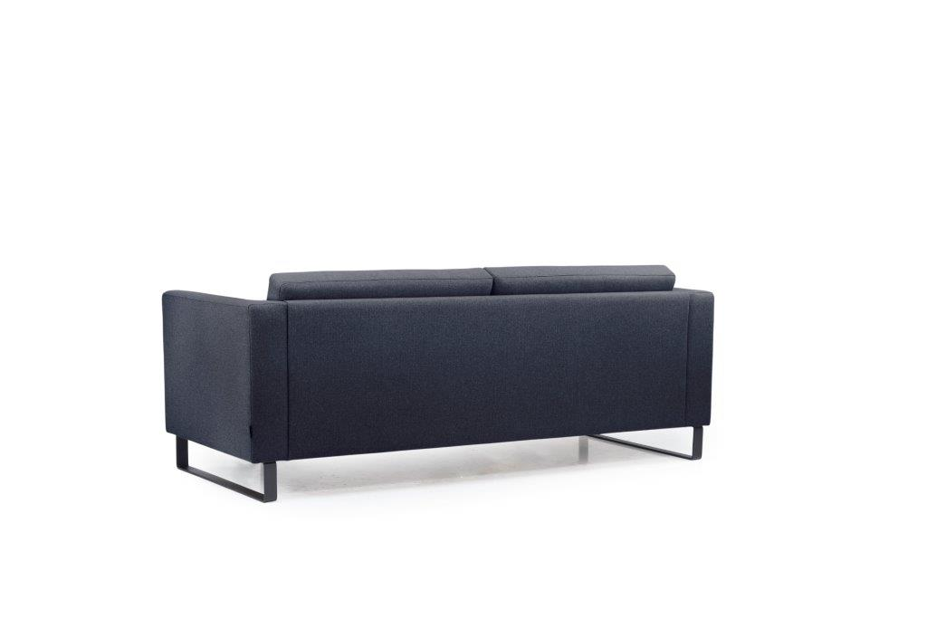GENEVE 3 seater (VERONA 16.2 dark blue) back softnord soft nord scandinavian style furniture modern interior design sofa bed chair pouf upholstery