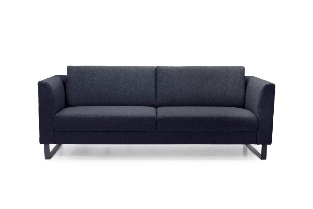 GENEVE 3 seater (VERONA 16.2 dark blue) front softnord soft nord scandinavian style furniture modern interior design sofa bed chair pouf upholstery