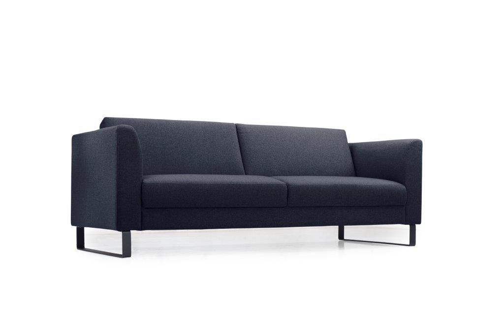 GENEVE 3 seater (VERONA 16.2 dark blue) low side softnord soft nord scandinavian style furniture modern interior design sofa bed chair pouf upholstery