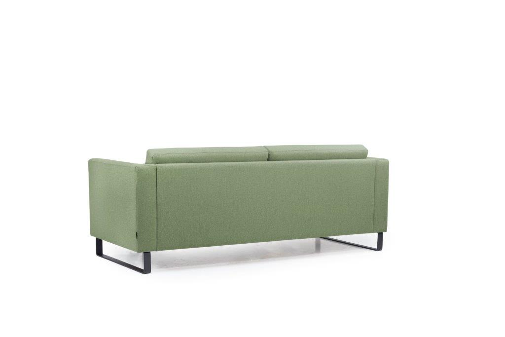 GENEVE 3 seater (VERONA 17 green) back softnord soft nord scandinavian style furniture modern interior design sofa bed chair pouf upholstery