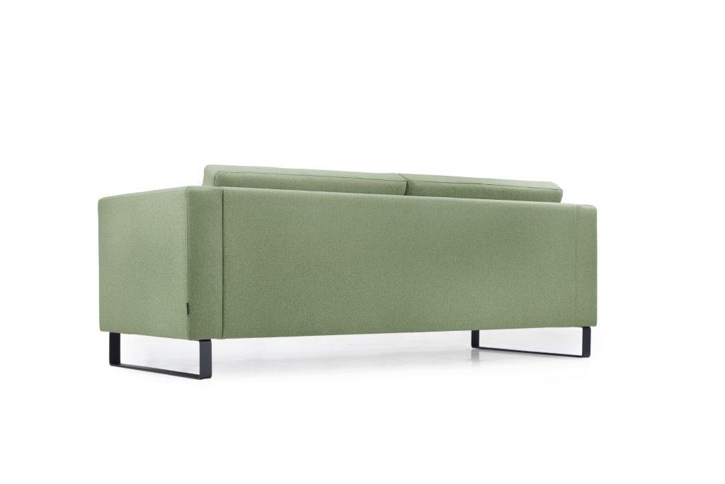 GENEVE 3 seater (VERONA 17 green) low back softnord soft nord scandinavian style furniture modern interior design sofa bed chair pouf upholstery