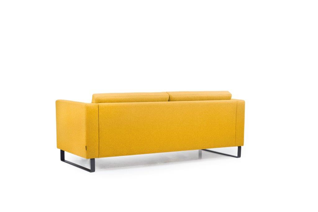 GENEVE 3 seater (VERONA 23 yellow) back softnord soft nord scandinavian style furniture modern interior design sofa bed chair pouf upholstery